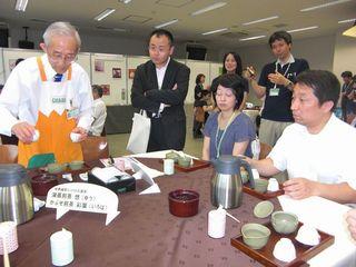 日本茶インストラクターリーダーの對比地さん.JPG